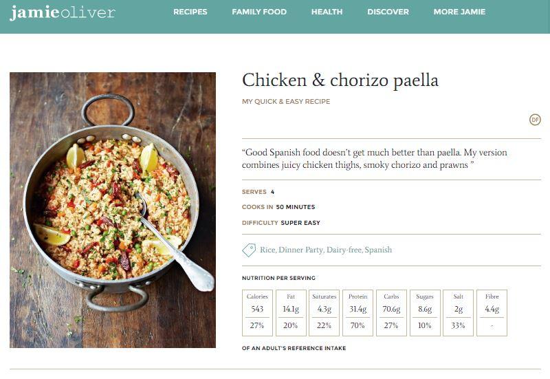 """La """"paella"""" de Jamie Oliver, el chef más famoso de Inglaterra"""